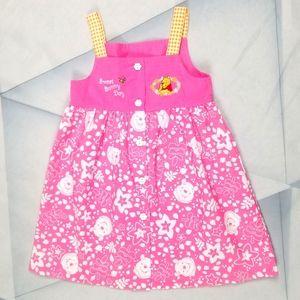 Disney Pooh Girls  4T Button Down Dress